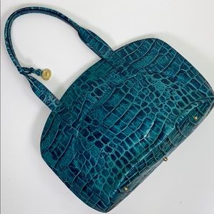 Brahmin I Rare Turquoise Crocodile Shoulder Bag